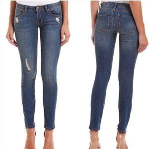 CAbi 5087 Skinny Distressed Jeans Size 6